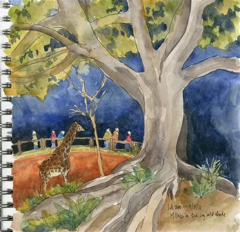 painting zoo la zoo watercolor painting what s
