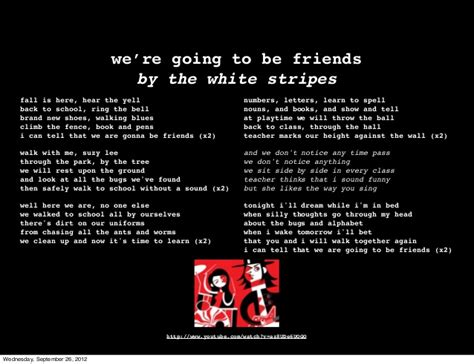 we re going to be friends books we re going to be friends the white stripes