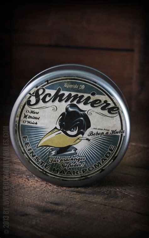 Rumble59 Schmiere Water Based Pomade Medium Hold rumble59 goo pomade medium vintage tins