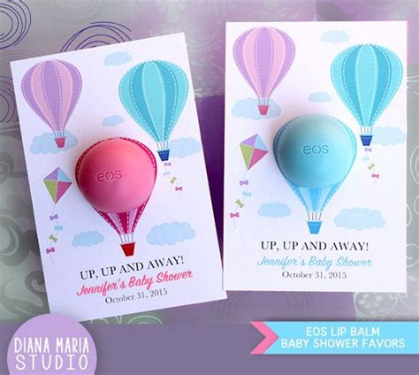eos birthday card template eos lip balm air balloon baby shower favors eos lip balm