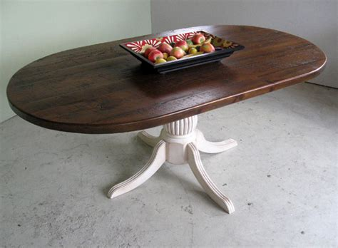 Reclaimed Wood Oval Dining Table Racetrack Oval Dining Table From Reclaimed Wood Farmhouse Dining Tables Boston By