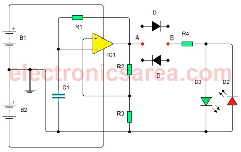 diode circuit test semiconductor diode tester circuit using 741 electronics area