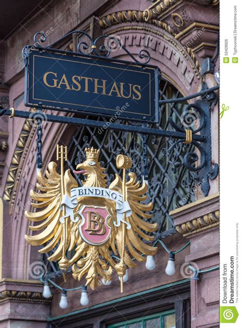 gasthaus in frankfurt gasthaus german guesthouse editorial photo image 53428926