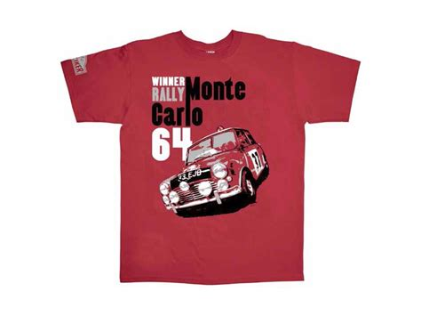 Mini Cooper Tshirt mini cooper t shirt 1964 monte carlo rally mens si