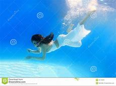 Woman Wearing A White Dress Underwater Royalty Free Stock ... Free Clipart Bride Silhouette