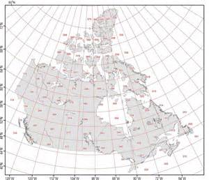 canada map longitude and latitude