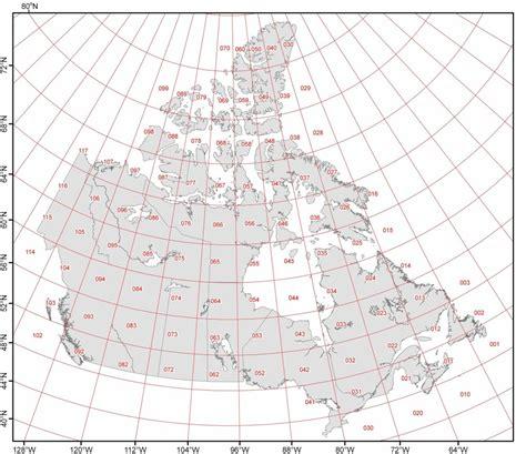 canadian map with coordinates examine the 8 x 4 degree grid sheets that cover