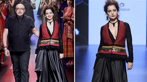 Lfw Day One Snapped Suzy Menkes by Tarun Tahiliani Opens Lakm 233 Fashion Week 2016 With Kangana
