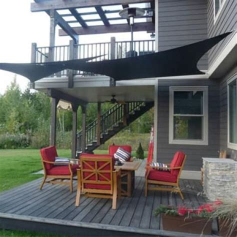 Sail Awnings For Decks by Shade Sails For Back Deck Outdoor Canada