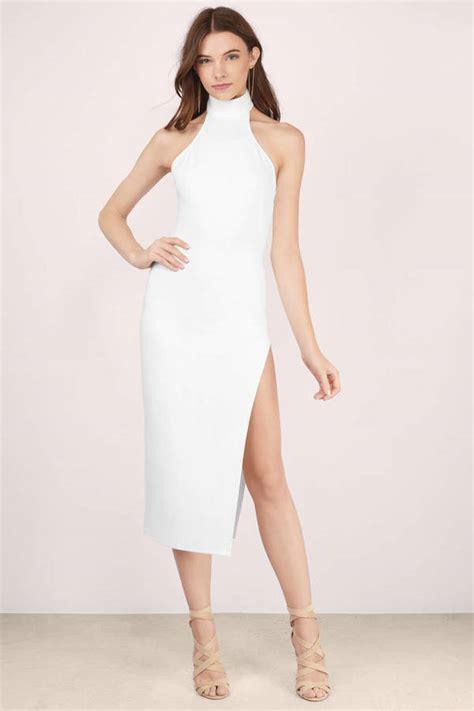 Slit Midi Dress by White Midi Dress White Dress High Slit Dress
