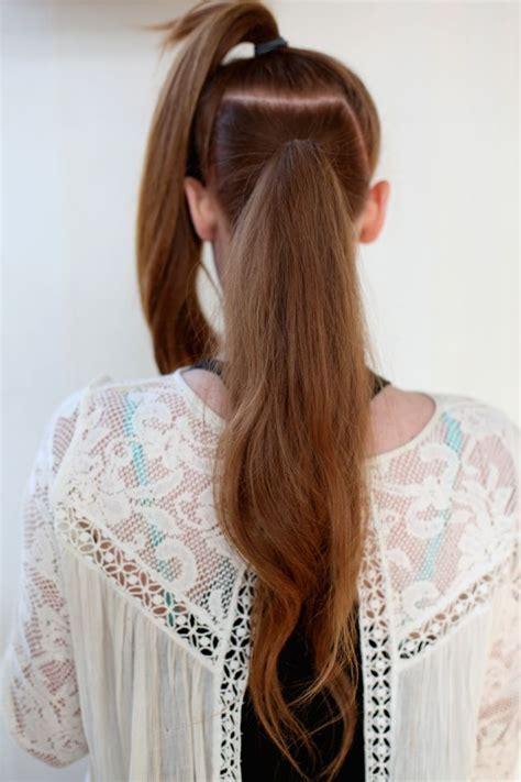 long hairstyles hacks easy hair trick super long ponytail hair hacks fuller