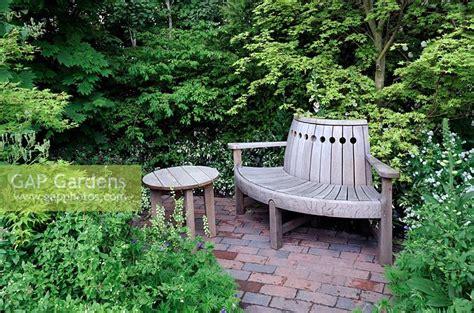 semi circular garden bench gap gardens semi circular garden bench in a quiet corner