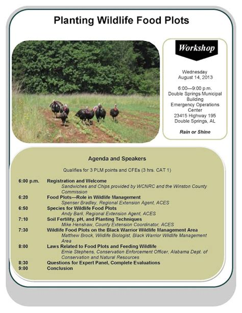 Wildlife Food Plot Planters by Winston County Resources Council July 2013
