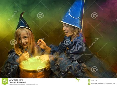 two little witches a two little halloween witches royalty free stock photos image 26567938