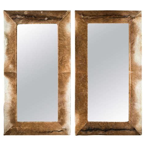 Cowhide Mirrors cowhide mirror at 1stdibs
