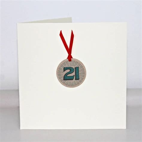 Handmade 21st Birthday Card - handmade 21st birthday card by chapel cards