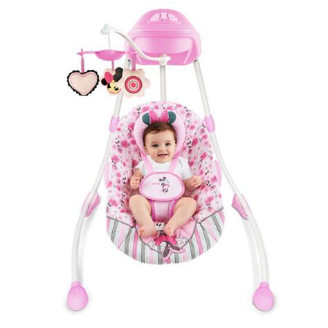 minnie mouse baby swing minnie mouse precious petals swing