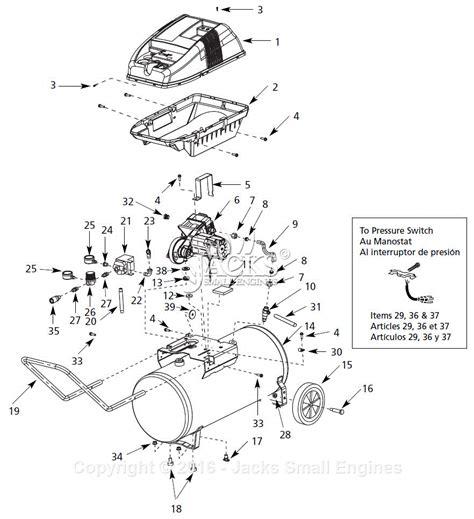 cbell hausfeld wl650100 parts diagram for air compressor parts