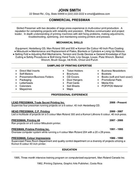 resume templates for of all trades 28 images 17 images