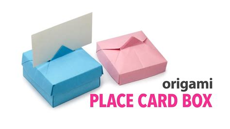 Origami Card Box - origami place card box lid tutorial diy origami