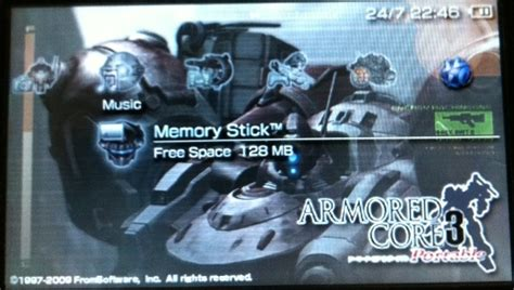 psp latest themes 2014 armored core theme for psp psp themes