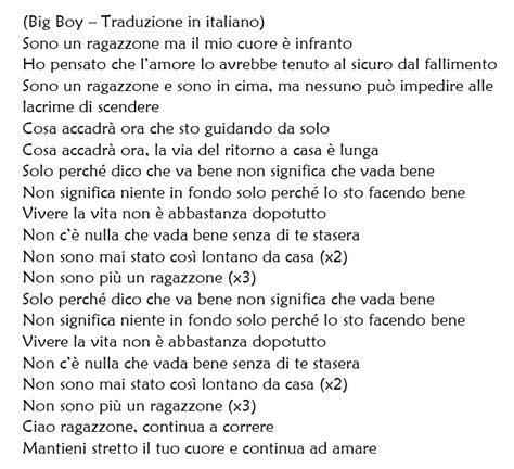 bid traduzione big boy di sergio sylvestre traduzione testo e audio