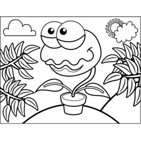venus fly trap coloring page coloring pages