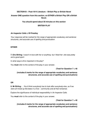 romeo and juliet sle essay past papers igcse literature edexcel best papers