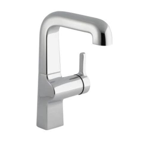 kohler single hole kitchen faucet kohler evoke single hole single handle low arc kitchen