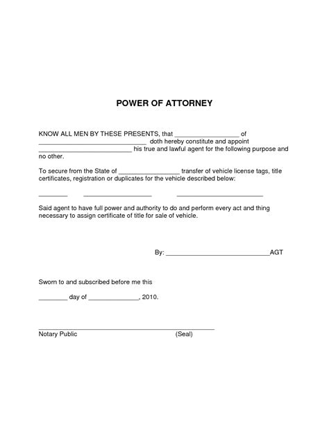 Simple Power Of Attorney Form Template Best Template Idea Simple Power Of Attorney Form Template