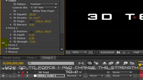tutorial after effect text 3d adobe after effects 3d text tutorial youtube
