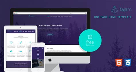 tajam free one page html template free html5 templates
