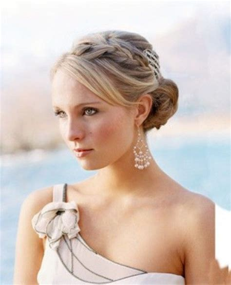 braided hairstyles with side bangs braided updo with side bangs hair skin makeup pinterest