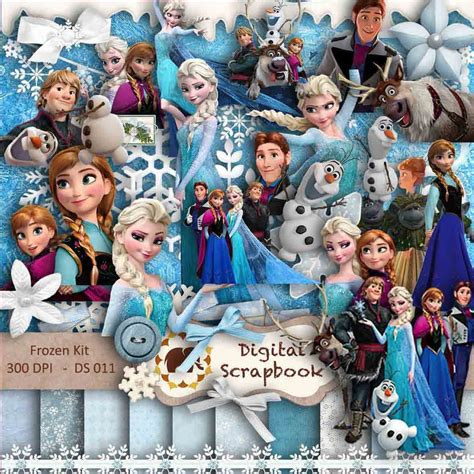 film frozen 2 completo kit scrapbook digital frozen completo vetor png silhouette