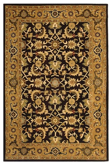 yellow and black area rugs heritage black yellow area rug hg586a 2 x 3 traditional rugs by zopalo