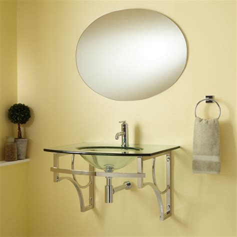 wall mount sink with towel caprice wall mount glass sink set with mirror bathroom