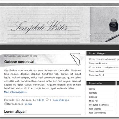 blogger templates for writers template blogger writer dicas blogger