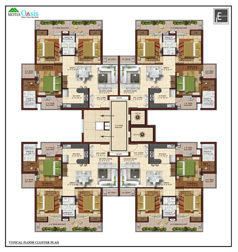 Cluster House Plans 3 4 Bhk Luxury Flats Apartments Motia Oasis Patiala