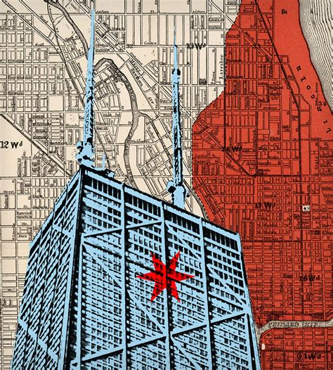 chicago map drawing vintage chicago map