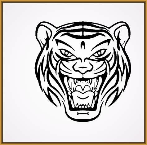 imagenes en blanco y negro sencillas dibujos de tigres faciles para dibujar archivos fotos de