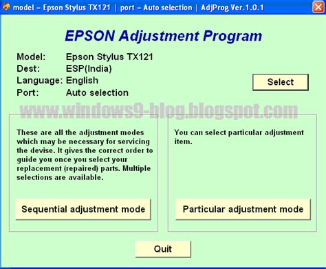 epson resetter t13 adjustment mode download download epson stylus tx121 me 320 resetter