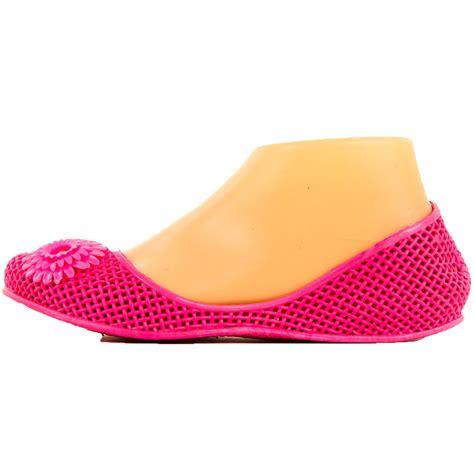 jelly flats shoes womens jelly ballet flats flower slip on shoe