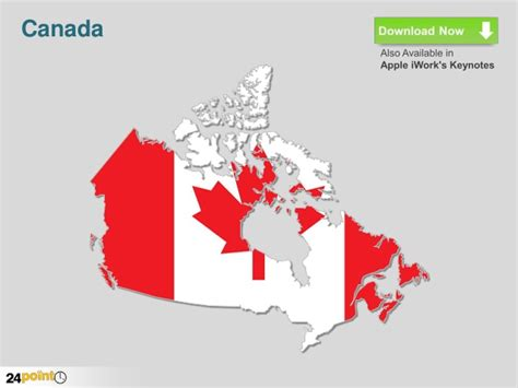 map of us and canada for powerpoint editable ppt map of canada