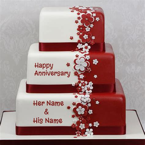 Wedding Anniversary Wishes Name Editing by Happy Anniversary Cake Name Picture