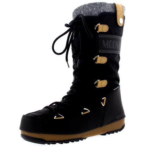 moon boots womens womens tecnica original moon boot monaco felt waterproof