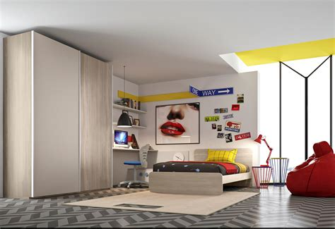 armadio letto cameretta con armadio scorrevole con letto da una piazza e