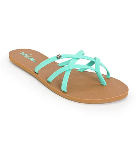 volcom new school sandals volcom new school mint sandals at zumiez pdp