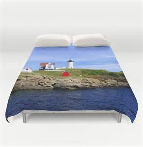 Tonneau Covers Maine Lighthouse Duvet Cover Coastal Maine Bedding Cape