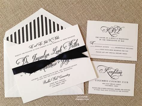 Wedding Invitations Columbus Ohio by Perfectly Scripted Wedding Invitation For Jacquelyn And