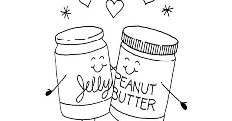Pb J Coloring Pages by Two Jar Peanut Butter And Jelly Coloring Pages For